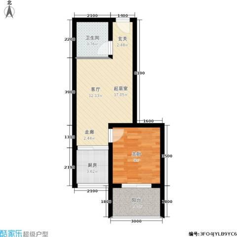 翰林17坊1室0厅1卫1厨62.00㎡户型图