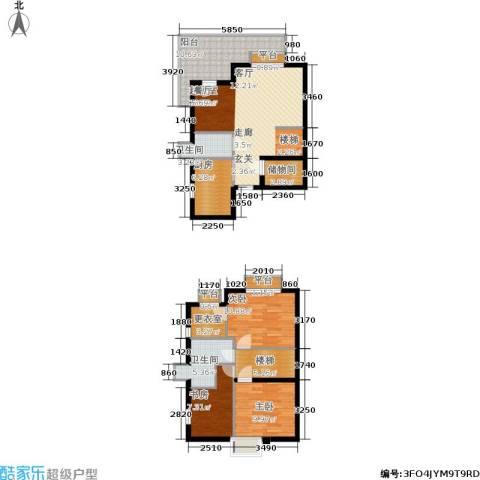 渭城风景3室0厅2卫1厨93.63㎡户型图