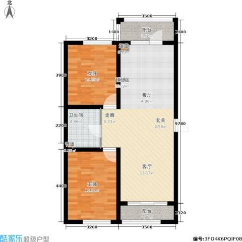 富佳新天地2室0厅1卫0厨97.00㎡户型图
