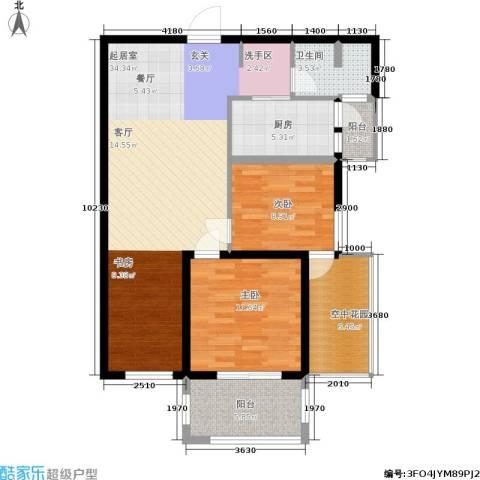 学院山2室0厅1卫1厨89.00㎡户型图