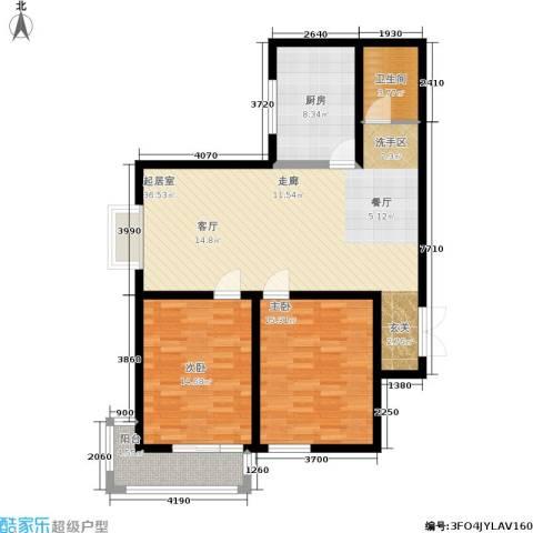 郦景澜庭2室0厅1卫1厨93.00㎡户型图