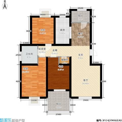 丽湾岛3室0厅1卫1厨116.00㎡户型图