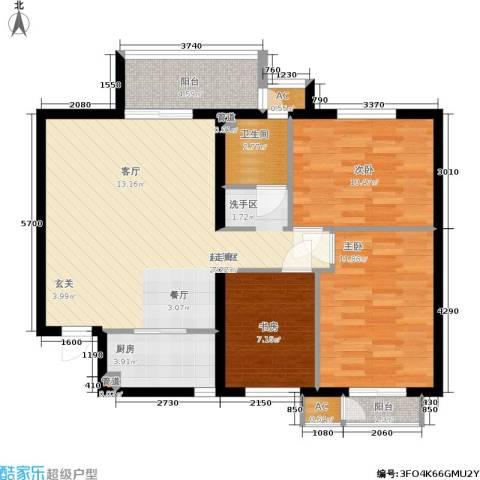 青年城3室0厅1卫1厨104.00㎡户型图