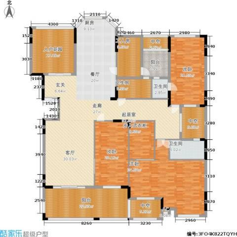 劲嘉金棕榈湾3室0厅3卫0厨265.00㎡户型图