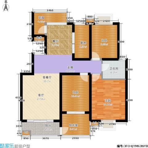 颐和盛世3室1厅1卫1厨113.00㎡户型图