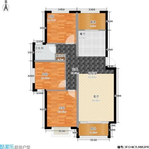 御江南3室0厅1卫1厨129.00㎡户型图