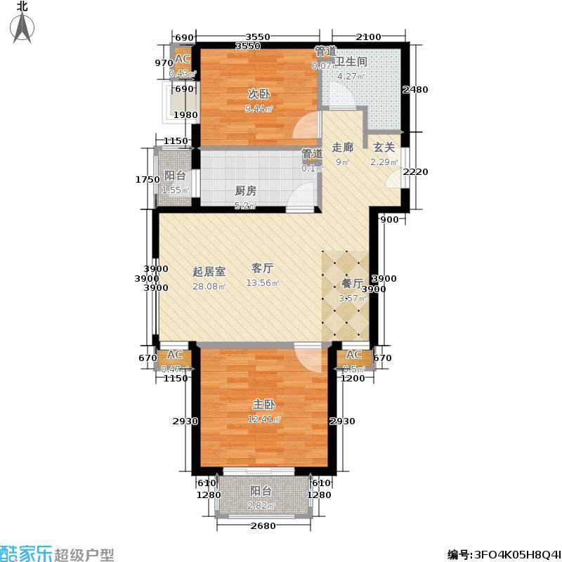 北京新天地99.58㎡5号院15号楼B(售罄)户型