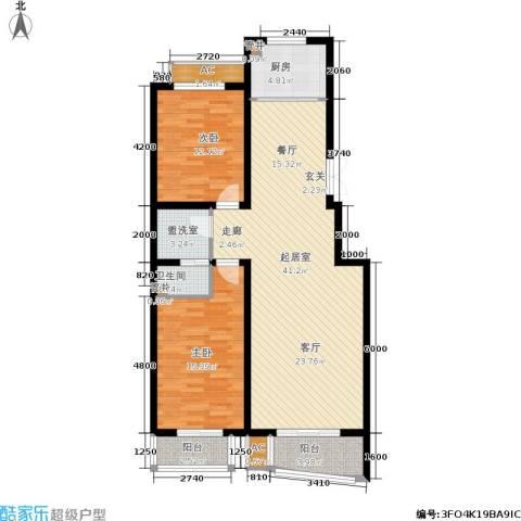 绿都皇城2室0厅1卫1厨126.00㎡户型图