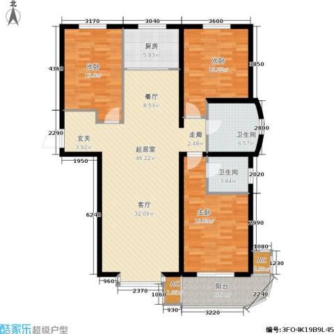 绿都皇城3室0厅2卫1厨159.00㎡户型图