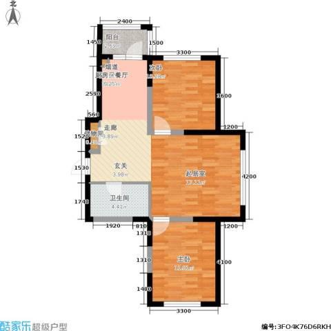 富佳新天地2室0厅1卫0厨98.00㎡户型图