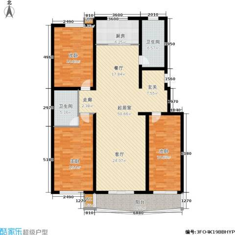 绿都皇城3室0厅2卫1厨175.00㎡户型图