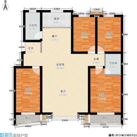 绿都皇城4室0厅2卫1厨163.00㎡户型图