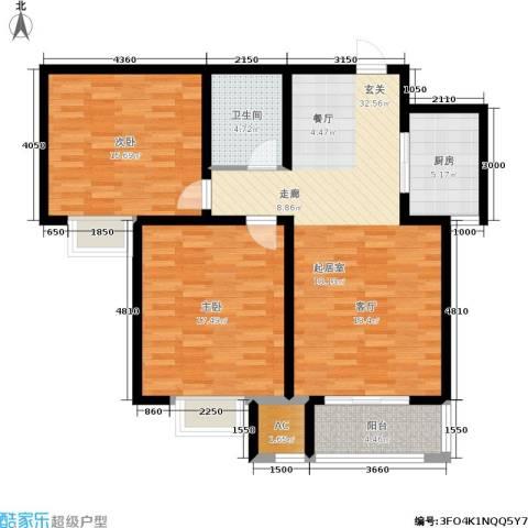 卓达上院2室0厅1卫1厨93.00㎡户型图