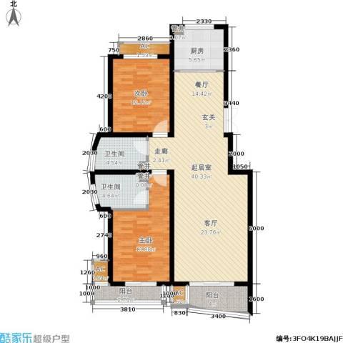 绿都皇城2室0厅2卫1厨132.00㎡户型图