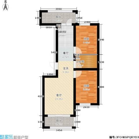 富佳新天地2室0厅1卫0厨61.00㎡户型图