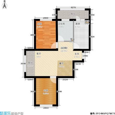 富佳新天地2室0厅1卫1厨67.00㎡户型图