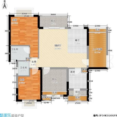 龙光城2室1厅2卫1厨108.00㎡户型图
