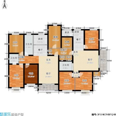 水木清华6室0厅3卫2厨277.00㎡户型图