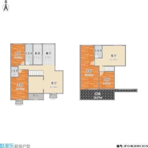 朗晴名居4室2厅3卫1厨215.00㎡户型图