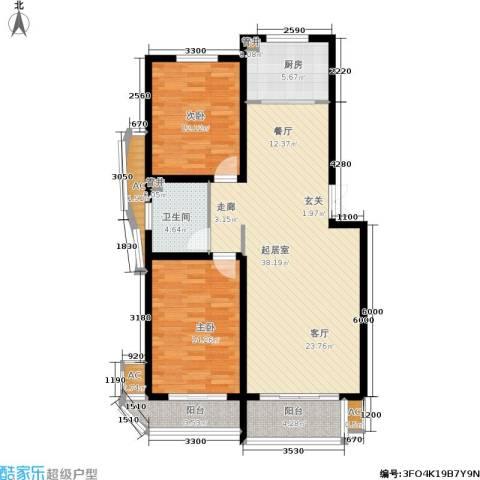 绿都皇城2室0厅1卫1厨124.00㎡户型图
