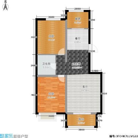 御江南2室0厅1卫1厨117.00㎡户型图