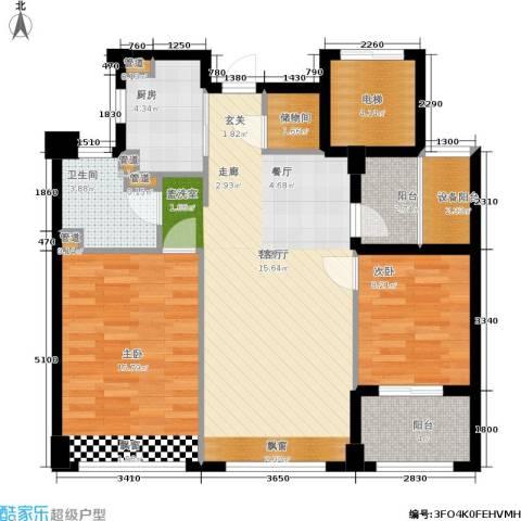 裕丰青鸟香石公寓2室1厅1卫1厨89.00㎡户型图