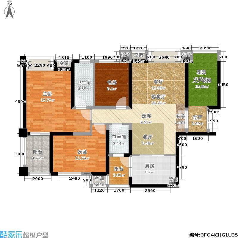 阳光台365126.11㎡18号楼A户型3室2厅