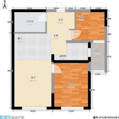 钻石9座2室0厅1卫0厨86.00㎡户型图