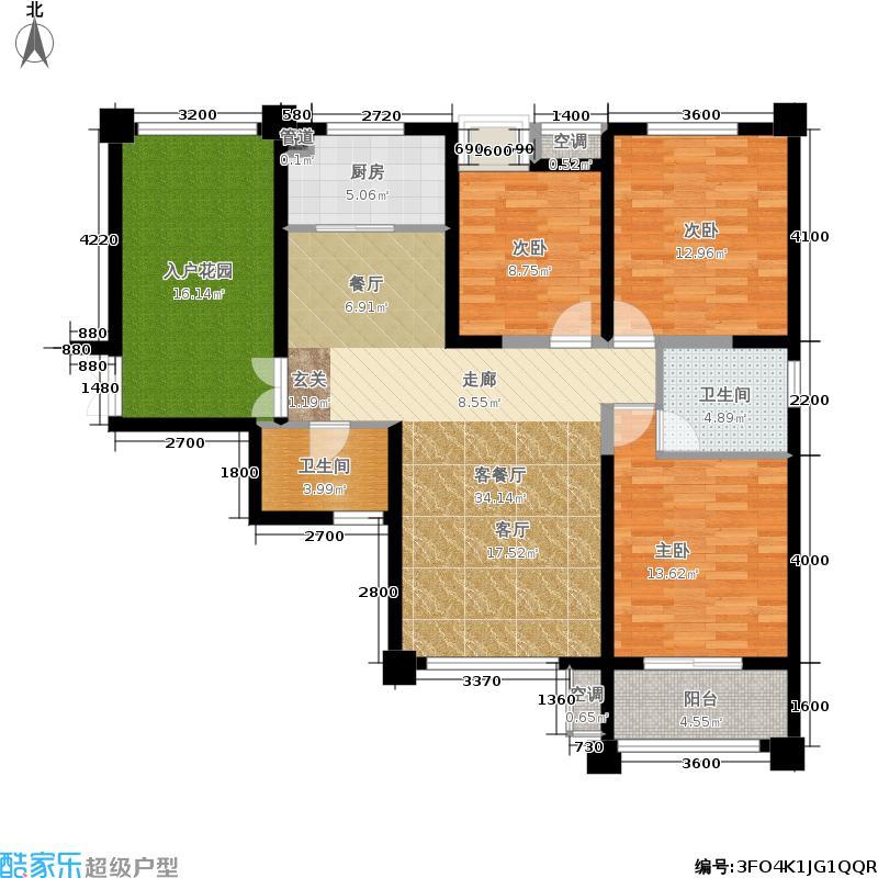 阳光台365127.00㎡16号楼户型3室2厅