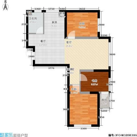 钻石9座3室0厅1卫0厨95.00㎡户型图