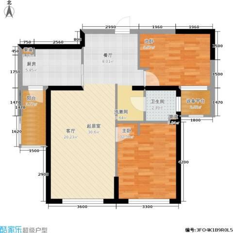 钻石9座2室0厅1卫1厨96.00㎡户型图