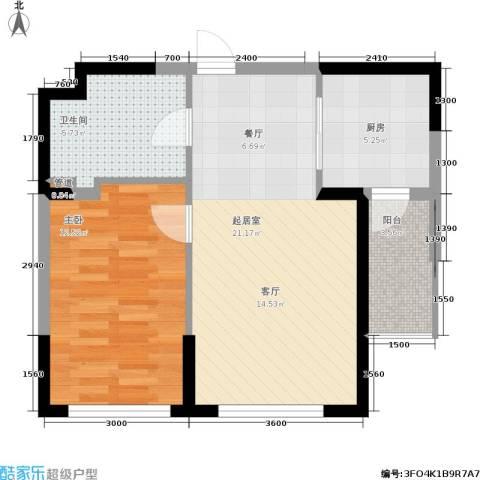 钻石9座1室0厅1卫1厨68.00㎡户型图