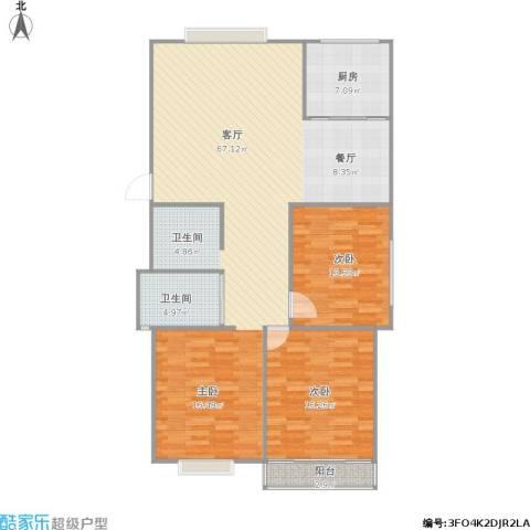 兴元嘉园2室1厅1卫1厨149.00㎡户型图