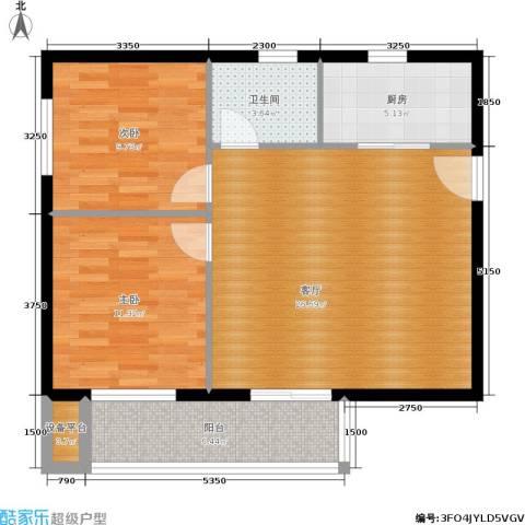 香格里拉尚城2室1厅1卫1厨86.00㎡户型图