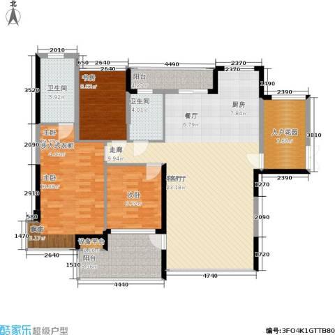 冠亚国际星城3室1厅2卫0厨132.00㎡户型图