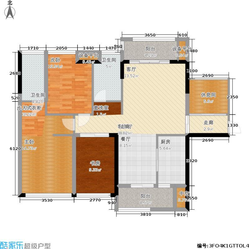 冠亚国际星城109.49㎡16#2单元F33室户型