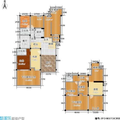 金上海湾3室1厅3卫1厨172.00㎡户型图