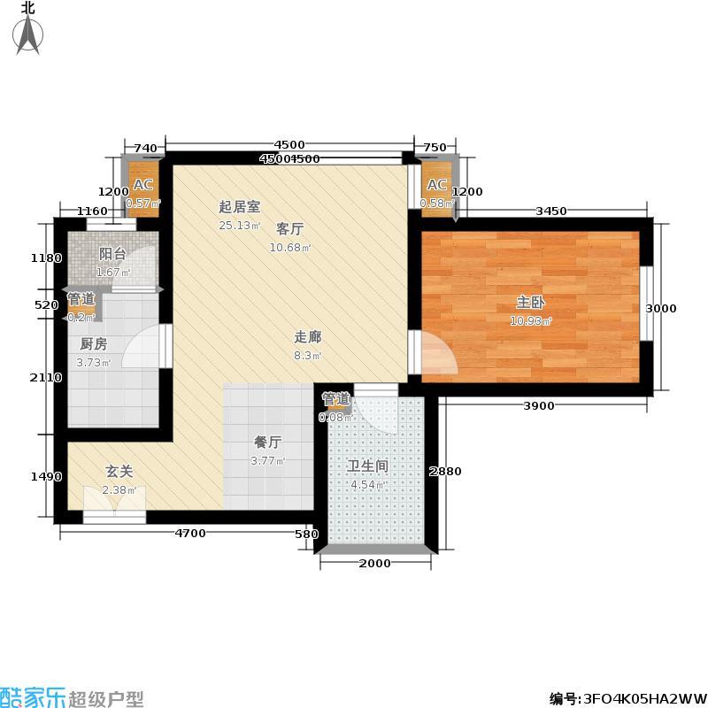 北京新天地69.48㎡五期13#A-A反户型