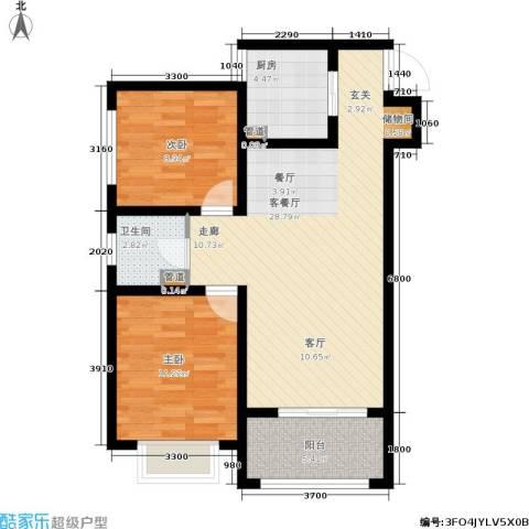 太奥广场2室1厅1卫1厨79.00㎡户型图