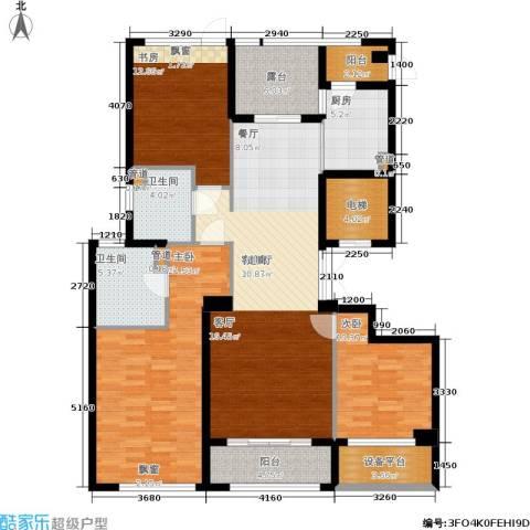 裕丰青鸟香石公寓3室1厅2卫1厨139.00㎡户型图