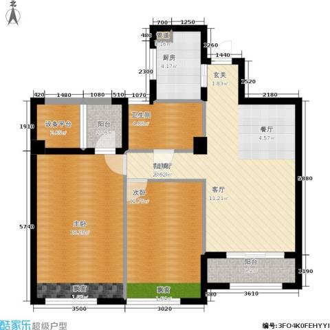 裕丰青鸟香石公寓2室1厅1卫1厨90.00㎡户型图