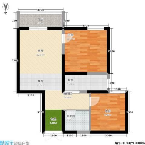 汉庭香榭2室0厅1卫1厨86.00㎡户型图