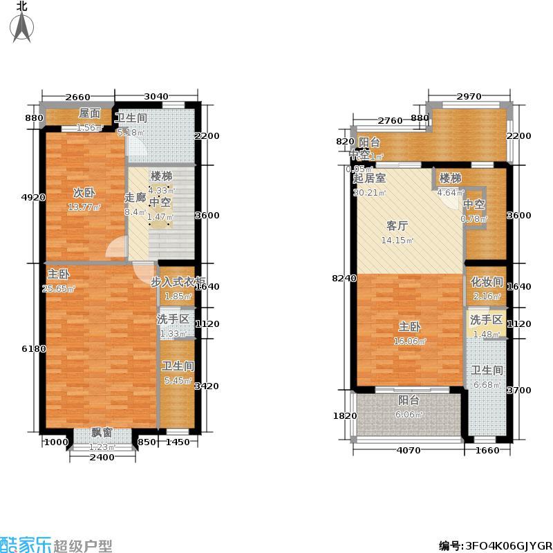江南山水一期T1二层、三层平面图户型