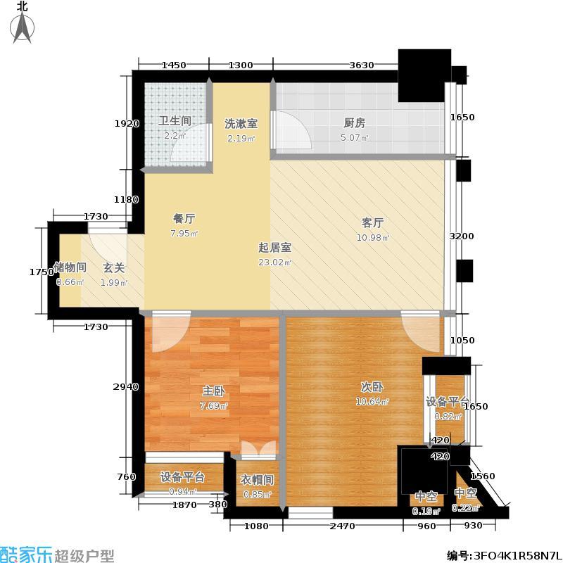中基国际公馆23号楼I-02户型