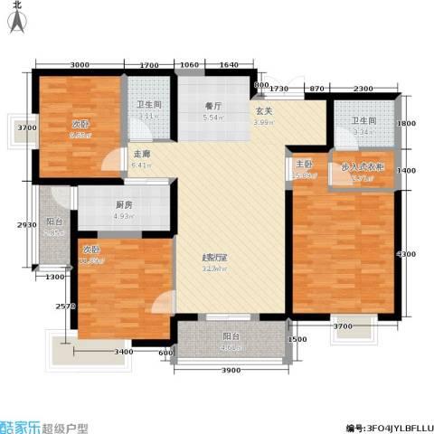 汉庭香榭3室0厅2卫1厨129.00㎡户型图