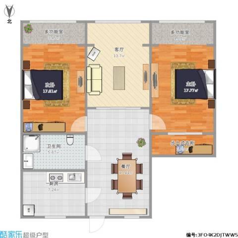 假日苑2室2厅1卫1厨111.00㎡户型图