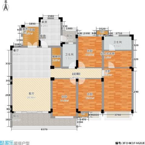 誉珑湖滨4室0厅2卫1厨174.00㎡户型图