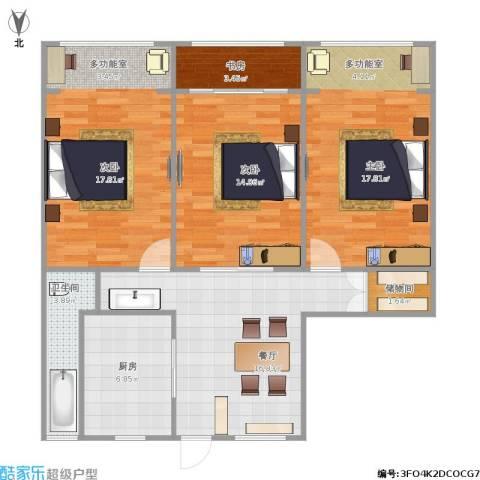 假日苑4室1厅1卫1厨111.00㎡户型图