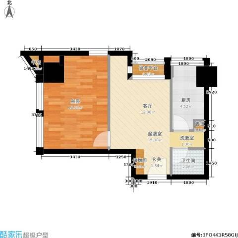 中基国际公馆1室0厅1卫1厨56.00㎡户型图