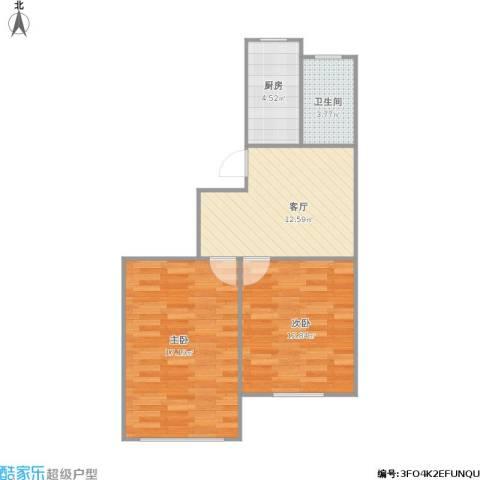 307164南华公寓2室1厅1卫1厨68.00㎡户型图